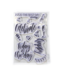 Elizabeth Craft Designs Clearstamps Celebrate