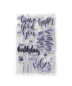 Elizabeth Craft Designs Clearstamps Birthday