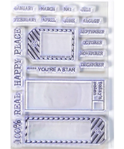 Elizabeth Craft Designs Clearstamps Sidekick Stamps 1