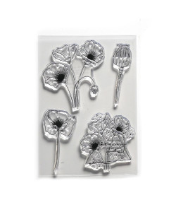 Elizabeth Craft Designs Clearstamps Poppy Dream
