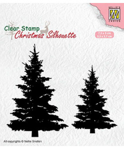 Fir Trees Christmas Silhouette Clearstamp