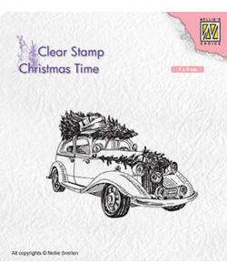 Christmas Time Christmas Tree Transport clearstamp