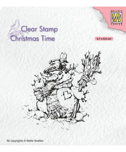 Christmas time clearstamp Snowman