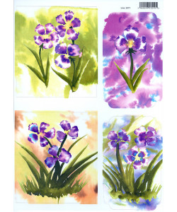 Card Toppers Flowers A4