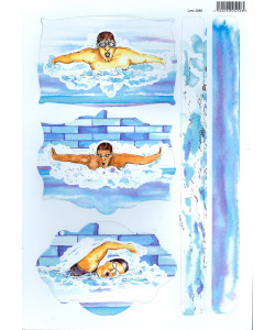 Card Toppers Swimming A4