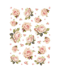 Stamperia Rispapper Texture with roses