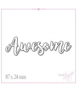"Rox Stamps Die ""Awesome"""