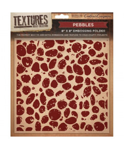Crafters C embossingfolder Pebbles Cailloux 20x20 cm