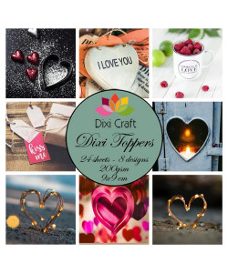 Dixi Craft Toppers Love
