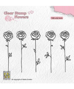 Nellie Snellen Roses clearstamp