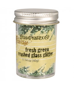 Stampendous Fresh green Crushed Glass Glitter