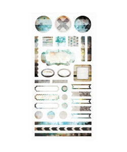 7DOTS STUDIO Hazy Days Element STICKERS 6x12