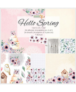 Hello Spring paperpad 6 x 6