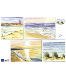 Marianne Design Klippark Background Beach A4