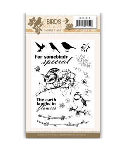 Jeanines Art Clearstamp Birds and Flowers