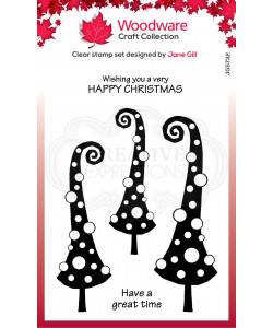 """Woodware Clearstamp """"Curly Christmas"""""""