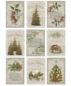 Vintage Christmas Collection Forest klippark A4