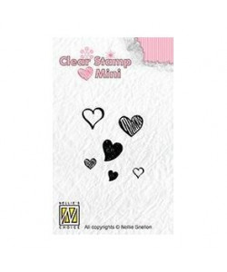 Nellie Snellen Clearstamp Hearts