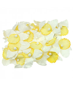 White and Yellow Mulberry Paper Orchids