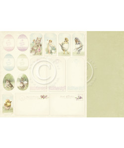 Pion Easter Greetings Tags