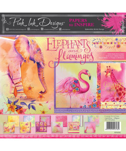 Elephants and Flamingos paperpack 12x12