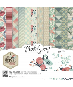Moda Scrap Paperpad Relax in the Garden Collection