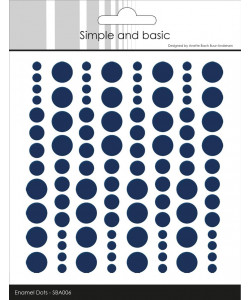 "Simple and Basic Enamel Dots ""Dark Blue"""