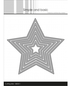 Simple and Basic Dies Double Pierced Star