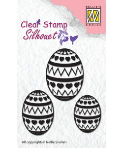 NELLIE SNELLEN SILHOUETTE CLEARSTAMP Easter eggs