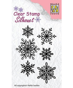 Clearstamp Silhouette Snowflakes