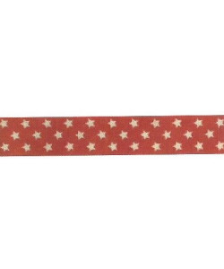 Xmas Ribbon Stars red16 mm