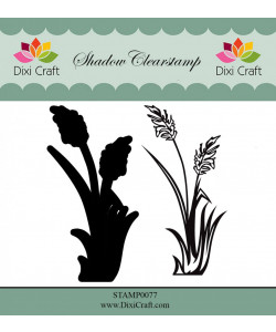 Dixi Craft Clearstamp Shadow Stamp 2 delar