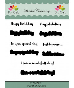 """DIXI CRAFT SHADOW CLEARSTAMP """"English Texts"""""""