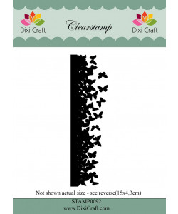 Dixi Craft Clearstamp Butterfly Border