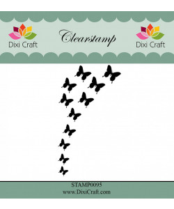 """Dixi Craft Clearstamp """"Butterfly Burst"""""""