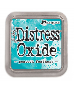 Distress Oxide Peacook feathers