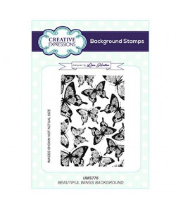 Beautiful Wings Background stamps