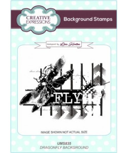 Dragonfly Background Stamps