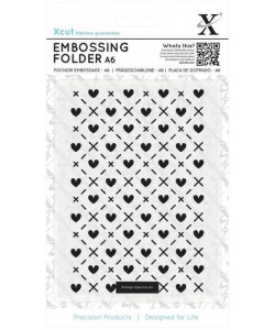 Docrafts Embossingfolder Heart and Kisses
