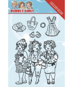 Yvonne Creations Clearstamp Bubbly Girls Girlfriends