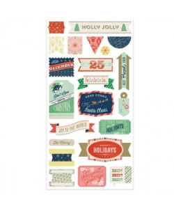 25th and Pine Holly Jolly Stickers